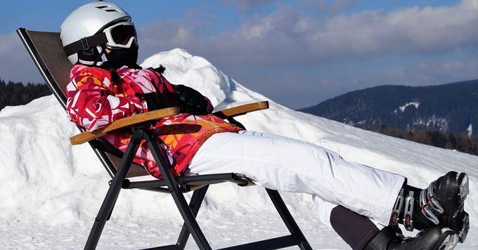 Skijašica odmara